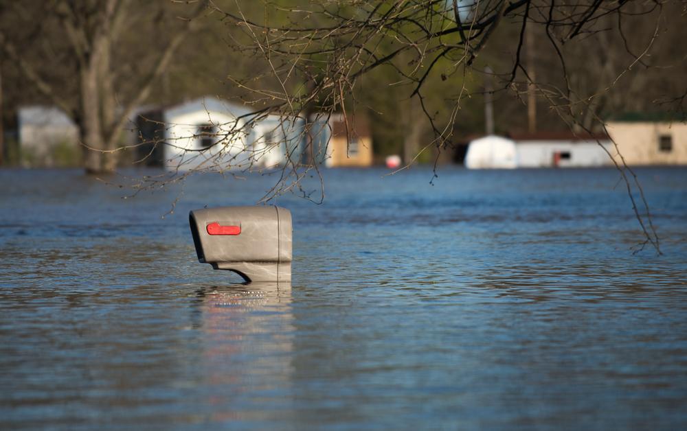 York Illinois flood mailbox