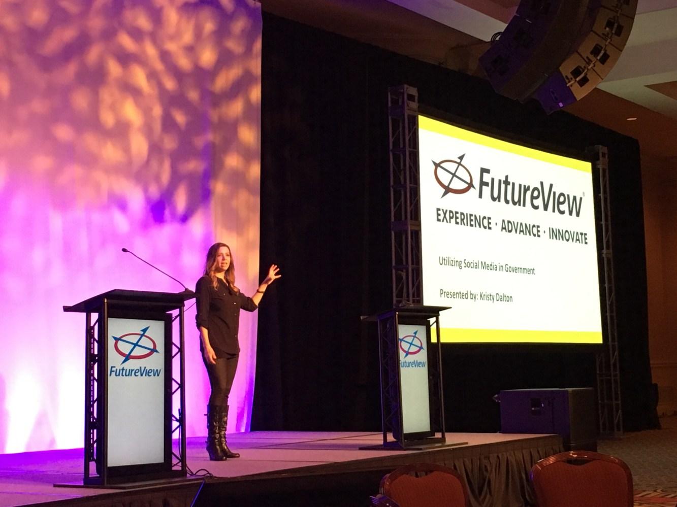 Kristy Dalton, a.k.a. GovGirl, talks social media strategy for government agencies at FutureView 2017.