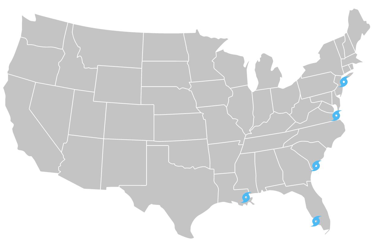 map - hurricane