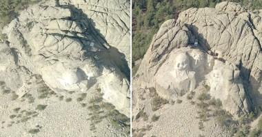 Orthogonal Imagery vs Oblique Imagery: Mount Rushmore