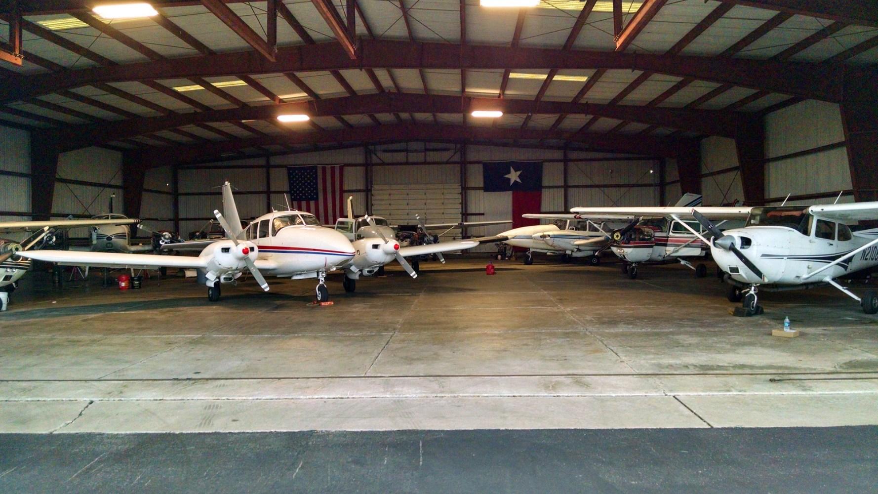 Planes in Hangar