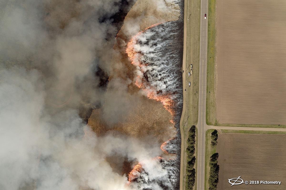 Controlled Burn in Minnesota Field
