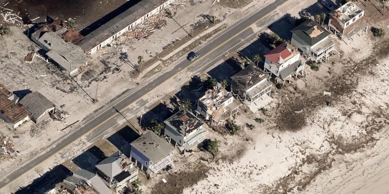 Hurricane Michael post-disaster imagery