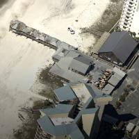 Hurricane Michael damage on beach