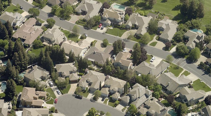 oblique neighborhood roofs