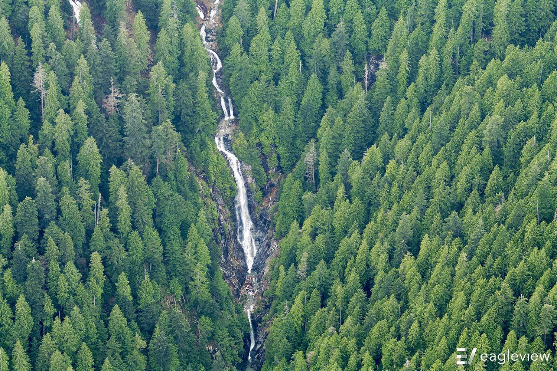 A chain of waterfalls near Coquitlam, British Columbia, Canada