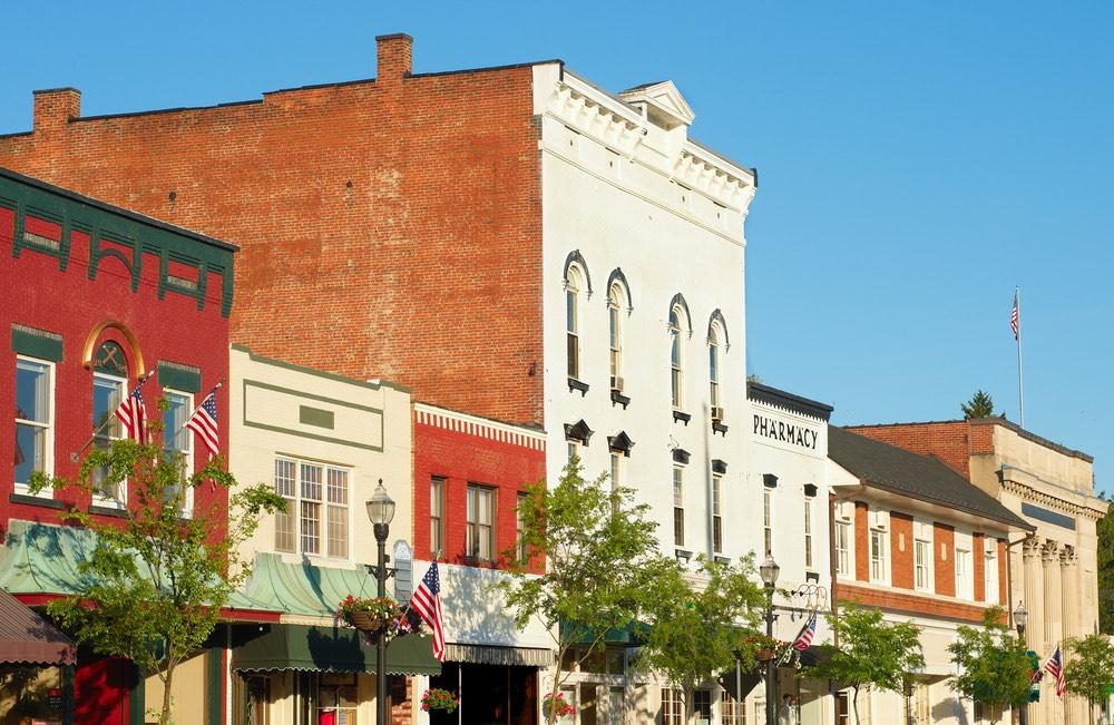 Small town Main Street America