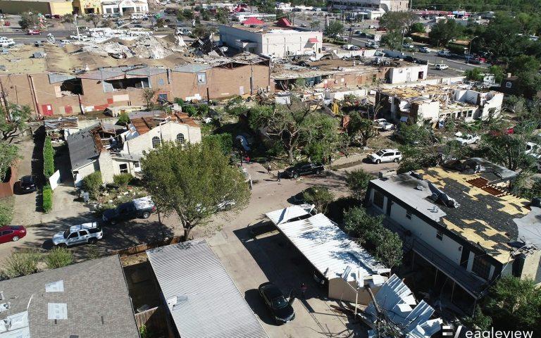 dallas tornado massive wreckage