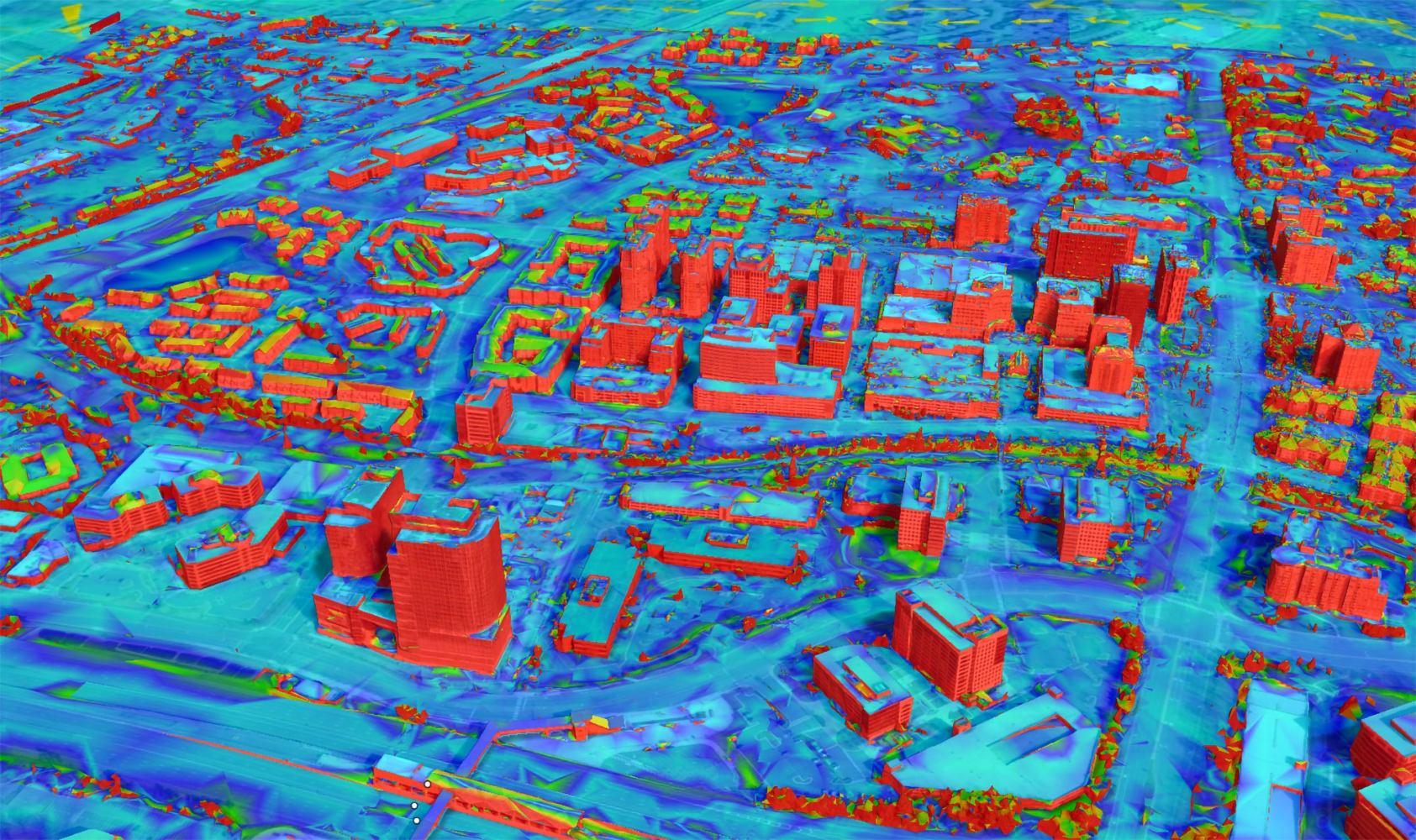 3D mesh Slope Map